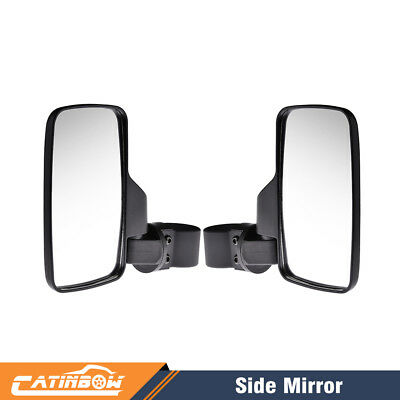 2X Side View Mirror for UTV Offroad High Impact Break-Away Wide View Race tour