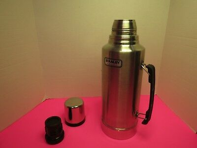 Stanley 2 Quart Thermos Vacuum Bottle Classic Stainless Steel Insulated