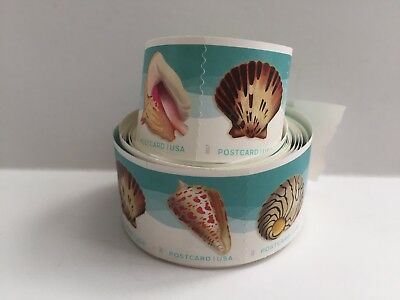 Seashells Stamps ROLL OF 100 X POSTCARD Coil 34c USPS #5167-70