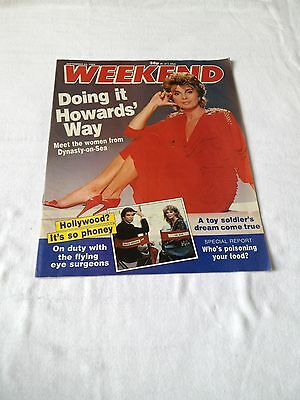 Weekend  September 1988 Bond Family Man  Peta Toppano Howard's Way Lee Van Cleef