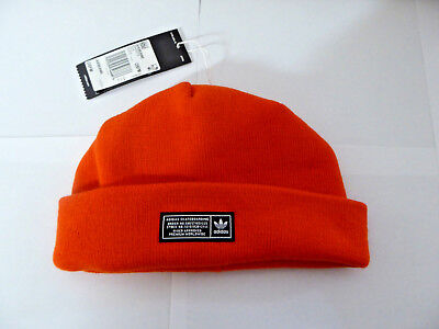 539bf71b3 NEW- ADIDAS ORIGINALS Men's Joe Beanie, One Size, Dh2575, Orange -$24.00