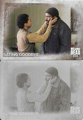 Topps The Walking Dead Season 5 #18 Saying Goodbye 1/1 Printing Plate Sasha Lot!