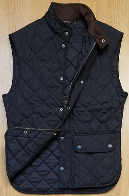 Barbour Lowerdale Quilted Gilet  Men's Vest L BK