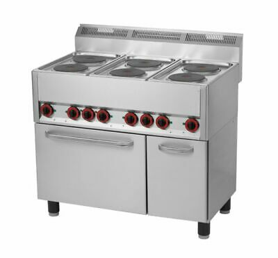 6-plate electric 990x600x860/920mm, with Heißluftback- Hot plate Oven