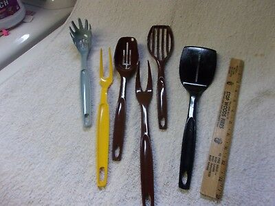 Vintage Kitchen Utensils Foley Ekco Spatula Spoons Forks Lot