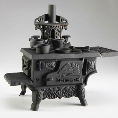 Old Mountain Cast Iron Mini Replica Wood Cook Stove  with Accessories #10126