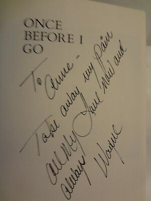 """Wayne Newton Autographed Book """"To Anne..............."""" Great Gift Item"""