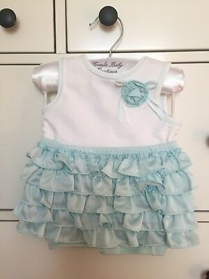 2297699e29 NEW (No Tags) Koala Baby Boutique Blue Girl Ruffle Bottom Outfit Size 12  Months