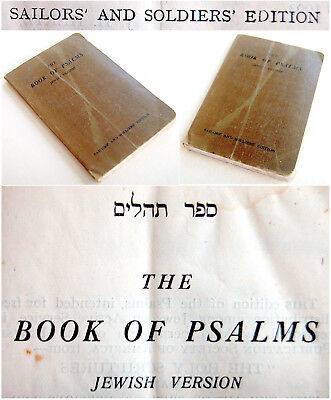WW1 1918 Jewish MILITARY Book BIBLE English PSALMS Soldiers SAILORS Rare JUDAICA