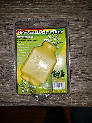 Smoke Buddy Personal Air Purifier Cleaner Filter Removes Odor (Yellow) New