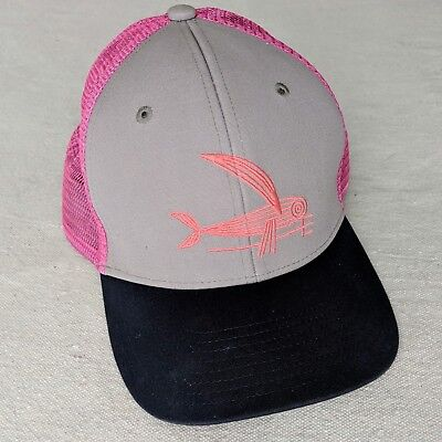 206baf1b327c4 Patagonia Geodesic Flying Fish Trucker Hat Organic Pink Women Farmer  Outdoors