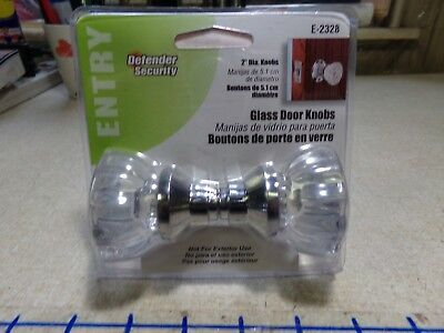 NEW Defender security E-2328 Entry Door Glass Knobs  *FREE SHIPPING*