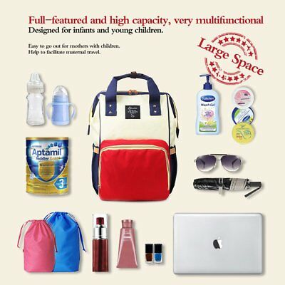 Baby Diaper Backpack Mommy Bag Mummy Travel Bottle Handbag Nappy Changing Bags L