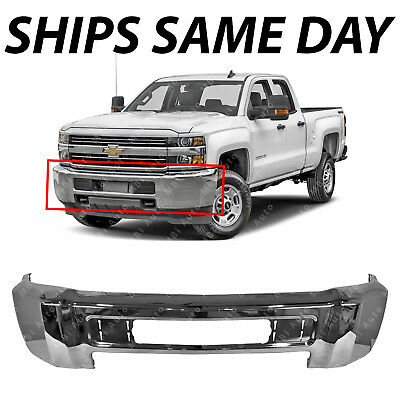 NEW Chrome - Front Bumper Face Bar for 2015-2019 Chevy Silverado 2500 HD 3500 HD