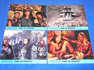 Conan The Barbarian Lobby Cards / Fotocromos (Full Set) - Excellent Condition!