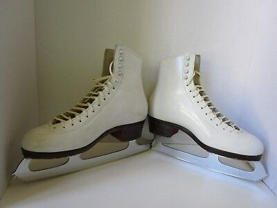 "Harlick Figure/Ice Skates Custom Made with 9 1/3"" MK Sheffield Steel Blades"