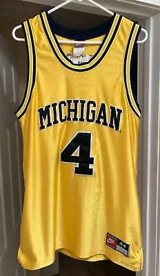 quality design 0d243 8cce5 CHRIS WEBBER MICHIGAN Wolverines 1993 Nike Authentic Yellow Jersey Fab 5  Size 44