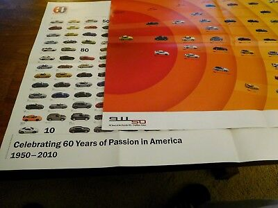 2 Porsche Posters: 50 Years Of The Porsche 911, 60 Years Of Passion In America