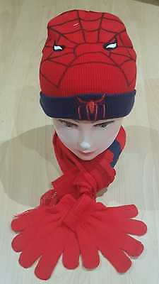 Spider man cap Boys Girls Winter Warm Hats Scarf and Cap Christmas Rudolph