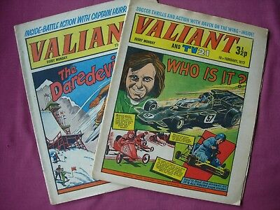 VALIANT X2 Feb 1973 May 1975 IPC Magazines All paper UK Comic VGC/FN