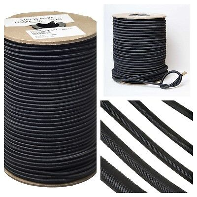 Durable Strong Black Elastic Shock Cord Tie Down  Rope Bungee 4 5 6 8 10mm