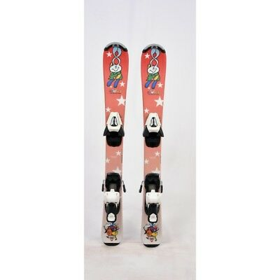 Ski occasion junior Tecno pro Snowli orange + fixations