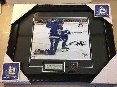 Auston Matthews #34 Toronto Maple Leafs REPRINT autographed 8x10 photo Frame NHL