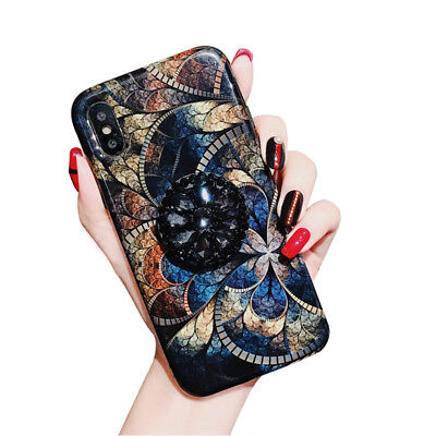 New Fashion Luxury Peacock Print Iphone Case Holder For IphoneX/6S/8p/XR XS Max