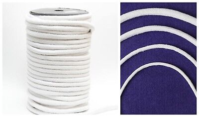 Professional Grade Chunky smooth White Piping Cord Upholstery Bags Furniture