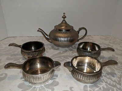 Vintage silver plated tea set silver plated made in India