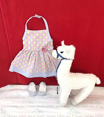 American Girl Doll Chrissa Outfit - Sundress with Shoes & Pet Llama Starburst