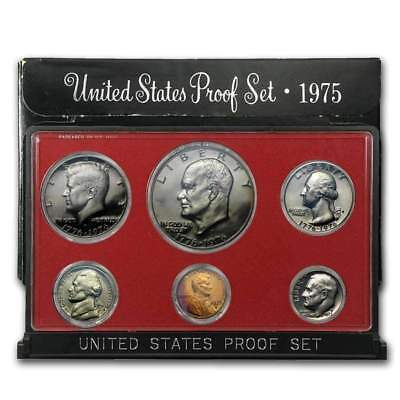 1975 United States Mint 6 Coin Proof Set In Original Government Packaging