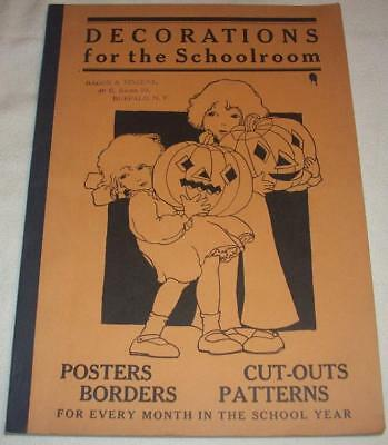 DECORATIONS FOR THE SCHOOLROOM 1931 Book Halloween Cover Posters Patterns Cutout