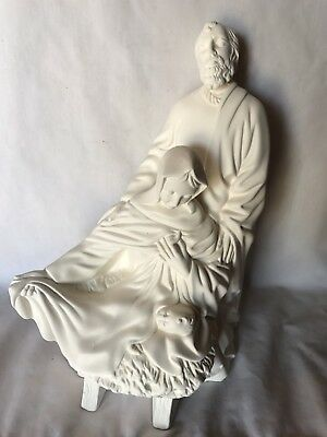 """10"""" Holy Family Joseph Mary Jesus Statue Ceramic Bisque Ready To Paint And Ship"""