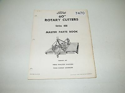 """Ford 60"""" Rotary Cutters Series 908 Parts Catalog Feb 1967 PA-4000-A"""