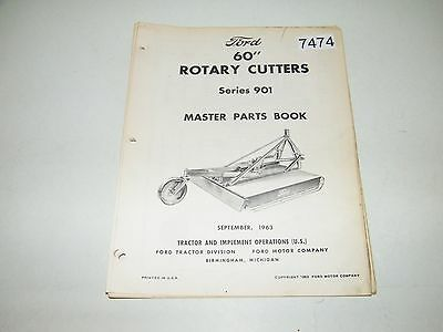 """Ford 60"""" Rotary Cutters Series 901 Parts Catalog Sept 1963 PA-8021-A"""