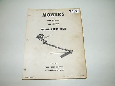 Ford Rear Attached Side Mounting Mowers Master Parts Catalog May 1966 PA-5333-E