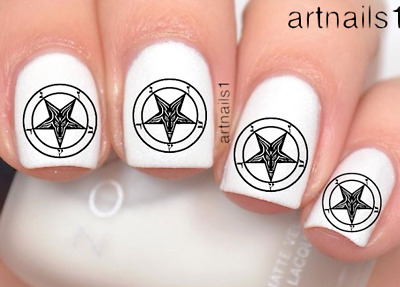 Baphomet Star Witch Nail Art Occult Goth Water Decals Stickers Manicure Polish