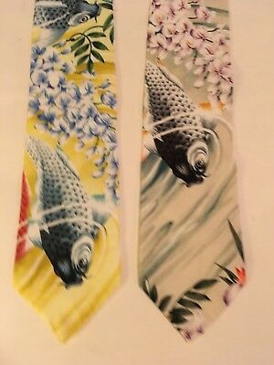 Rare Kamehameha Mens Vintage Necktie Lot Hawaii Hawaiian Neck Tie Dress Shirt