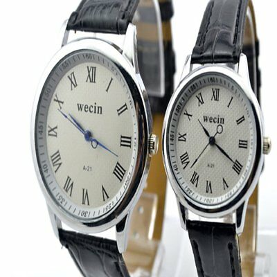 Scale Roman numerals coupleAlloy Case Synthetic Leather Analog Watch RA