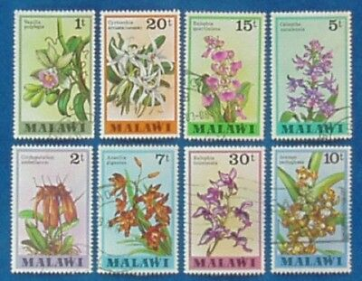 MALAWI Africa 1979 Postally Used Partial Set Orchids Flowers 398