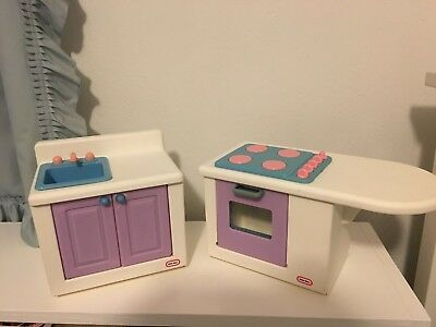 Little Tikes My Size Barbie Dollhouse Kitchen Island Stove Oven Sink