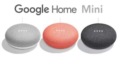 Google Home Mini- BRAND NEW IN BOX SEALED - CORAL, CHARCOAL AND CHALK