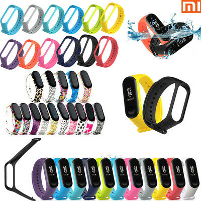 For Xiaomi Mi Band 3 Adjustable Bangle Soft Silicone Strap Wristband Bracelet