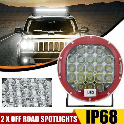 2x 7inch CREE LED SPOT Driving Lights Truck Ute Round Spotlights 12V RED 99999W