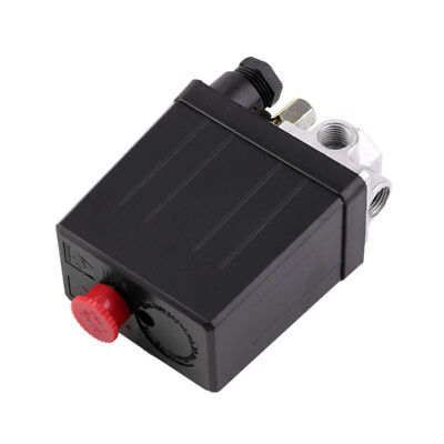 240V ON/OFF Air Compressor Pressure Switch Metal Control Valve 90-120 PSI Black