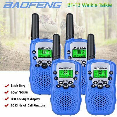 4x BAOFENG Mini Blue Walkie Talkie 3-5KM Two Way Radio Licence Free Toy Gifts AU