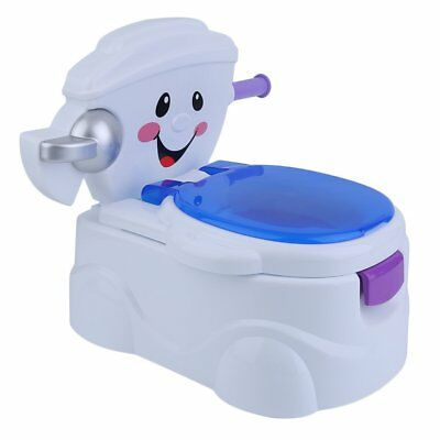 2 in 1 Baby Toilet Trainer Child Toddler Kid Music Potty Training Seat Chair Fun