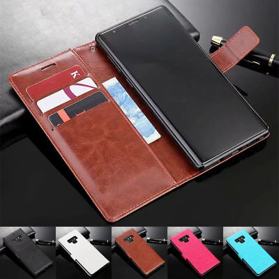 For Samsung Galaxy Note 9 New Magnetic Leather Wallet Card Slot Flip Case Cover
