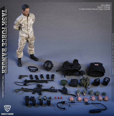 1/12 CrazyFigure LW002 US Miliary Special Army Force Command Figure Collection